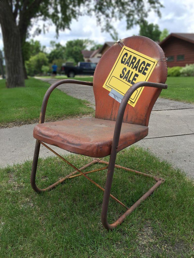 having a garage sale