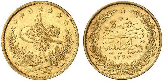 Turkey Gold 100 Kurush Coins